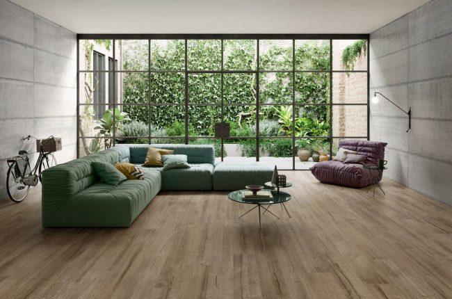 carrelage parquet bois style loft industriel salon séjour maison moderne Castelnau le lez