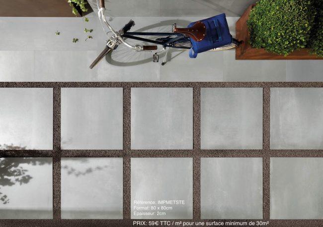 carrelage sur plots exterieur antiderapant effet metal sommieres rénovation