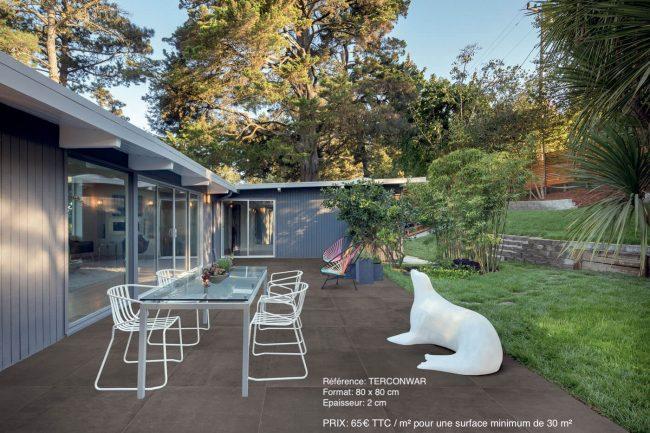 dalles sur plots grand format exterieur terrasse effet beton castries