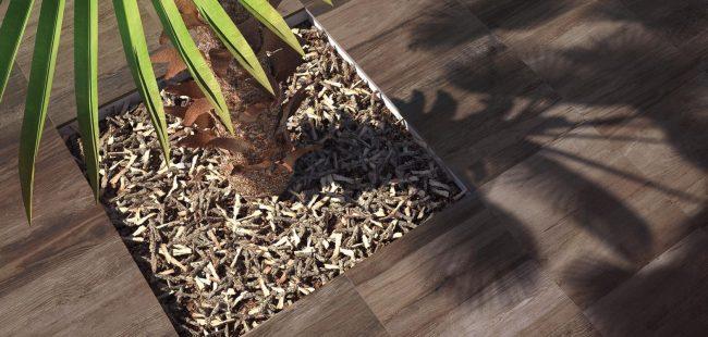 carrelage effet bois naturel dalle sur plot aménagement extérieur maison individuelle le Crès