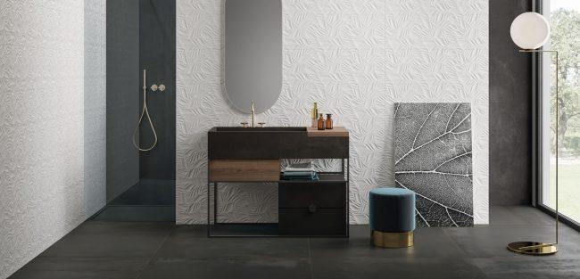 carrelage de la tour Lavérune mobilier industriel pour aménagement et décoration salle d eau dans un appartement rénové de saint jean de vedas
