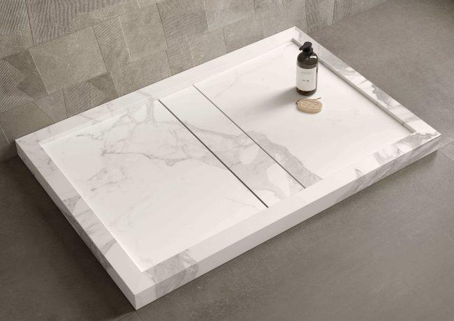 carrelage de la tour receveur douche amenagement salle de bain gres cerame carrelage sol mur decoration tendance appartement saint jean de vedas