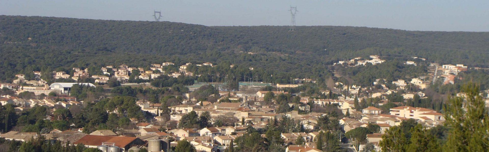 Vue panoramique de la ville de Saint-Gely-du-Fesc