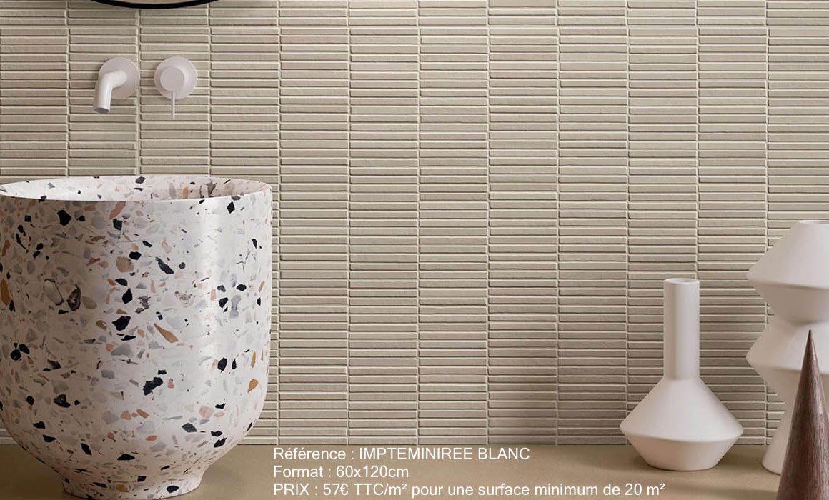 carrelage de la tour montpellier callerage texture effet brique naturel pour renovation d une salle de bain