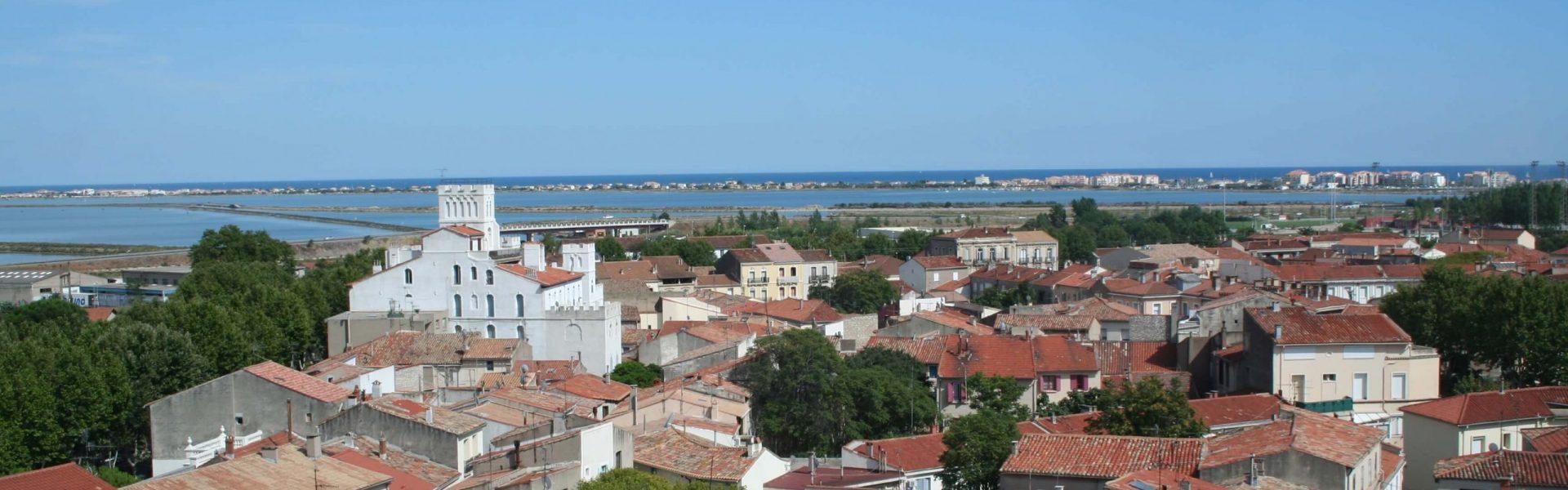 Vue panoramique de la ville de Frontignan