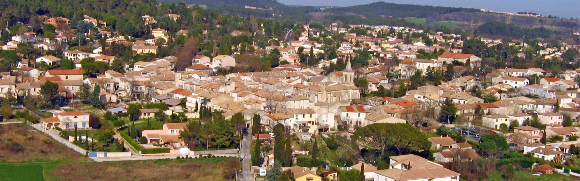 Vue panoramique sur la ville de Grables